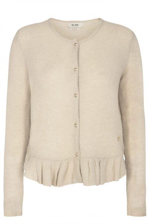 Beige cashmere cardigan med volangkant Mos Mosh - 123500 alice cashmere cardigan