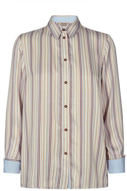 Stripet viskose skjorte Mos Mosh - 132280 jodie river shirt