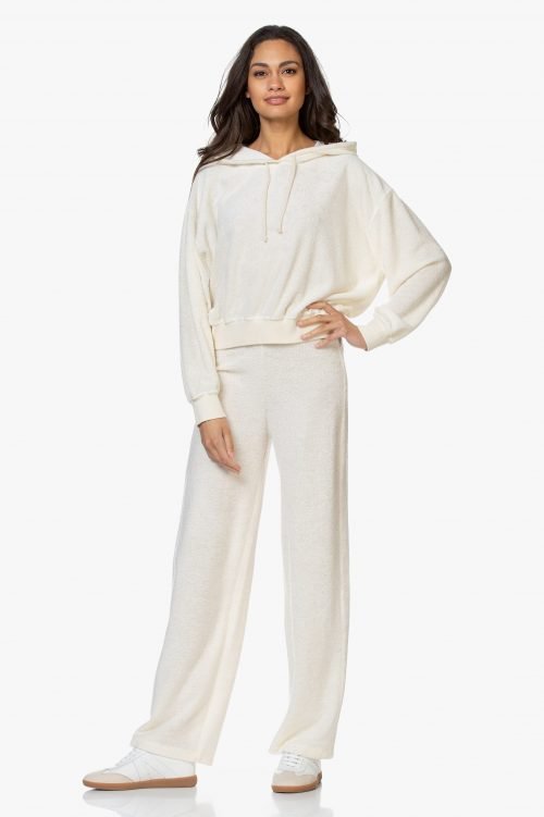 Krem frotté hoodie med tilhørende bukse American Vintage - oki 82b /oki83