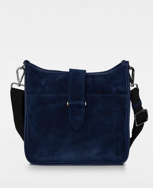 Cognac eller navy semsket cross over Decadent Copenhagen - Bree cross over suede