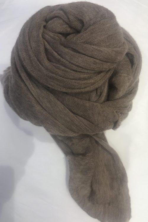 Taupe elastisk og superlett 'Luxury' 100% italiensk cashmere skjerf Natura Cashmere - luxury scarf 100*160 cm