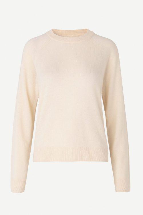 Kremfarget cashmere genser Samsøe - 6304 boston