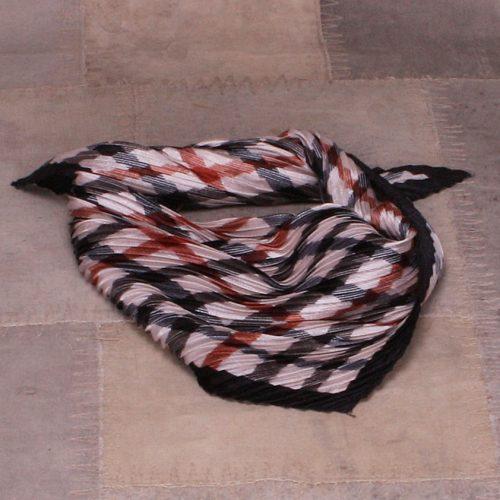Rustmønstret silketørkle Bæltekompagniet - Silke 4-12