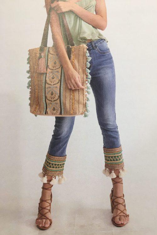 Jeans med Masai-broderi Cabana Living - Pack Mosai