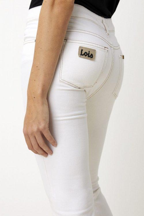 Ecru 'Raval' flare jeans med beige stikninger Lois jeans - raval 2007-2494 cheers chic L32 + L34