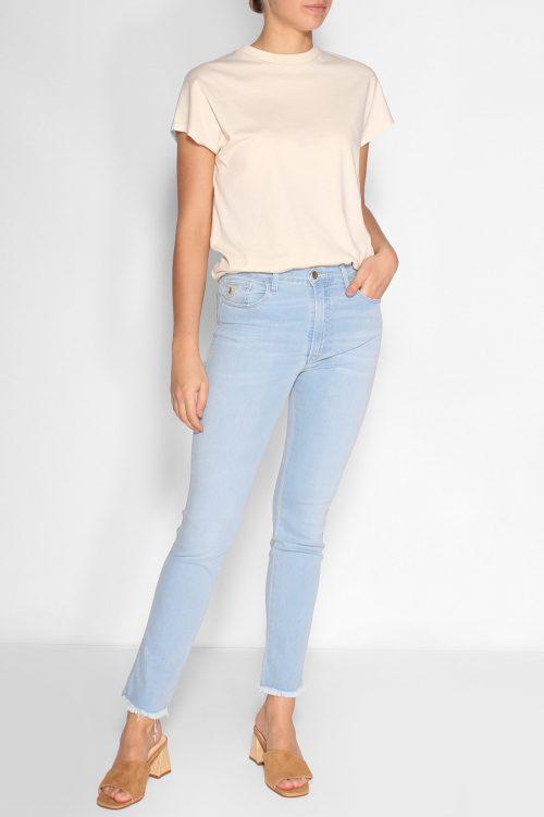 Lys lys denim 'Rebeca' jeans med rette ben og frynsekant Lois Jeans - rebeca 2492-6036 leia sunlit L32 cropped