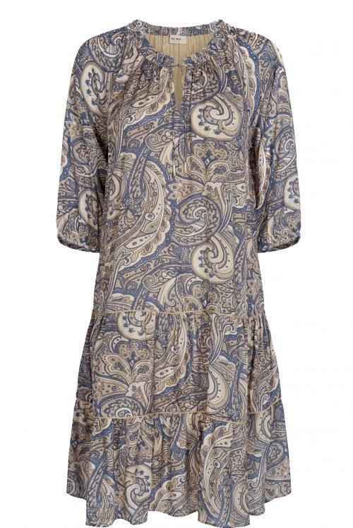 Blåecru paisley viskose ledig kjole Mos Mosh - 132960 tinka paisley dress