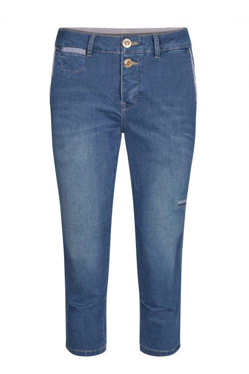 Capri jeans i myk sateng-stretch Mos Mosh - 133550 valerine sateen