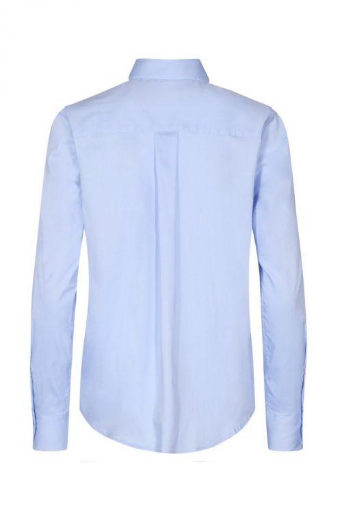 Soft rose, hvit, sort, ecru, brun, night blue eller light blue bomull stretch skjorte Mos Mosh - 131730 martina sustainable shirt