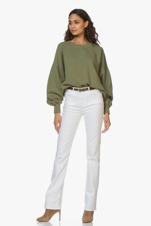Dus rosa eller grønn collage-genser American Vintage - wit90b