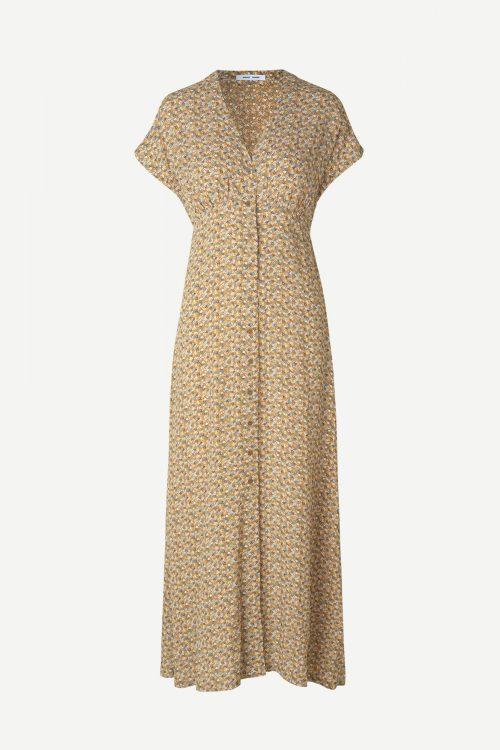 Blomstret lang viskose kjole Samsøe - 10867 valerie long dress