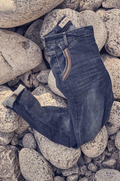 Jeans med juvel-bord Mos Mosh - 134210 Naomi Jewel Jeans