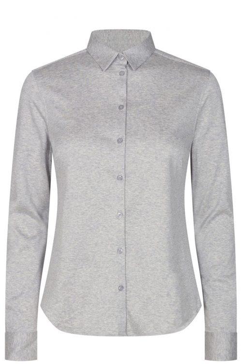Lys gråmelert, hvit eller sort jersey skjorte Mos Mosh - 131660 Tina Jersey Shirt
