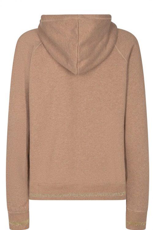 Camel eller gråmelert hoodie Mos Mosh - 134850 Kash Hoodie Sweatshirt