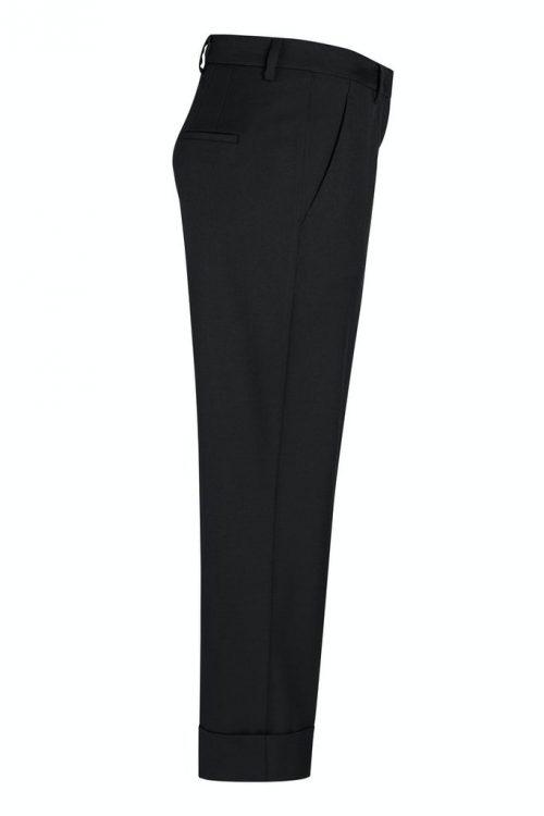 Marine, cognac warm eller sort klassisk dressbukse med oppbrett Cambio - 6047 0300-17 krystal 27
