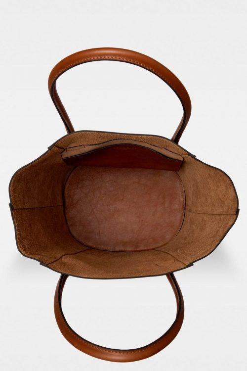 Sort eller cognac stor skinnshopper Decadent Copenhagen - 309 gia bucket tote