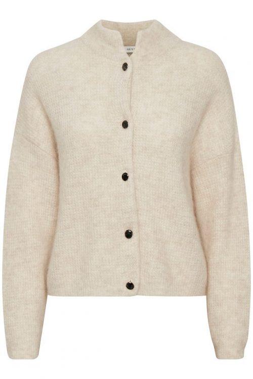 Sort eller offwhite cardigan med krave Gestuz - debbie cardigan 10904126