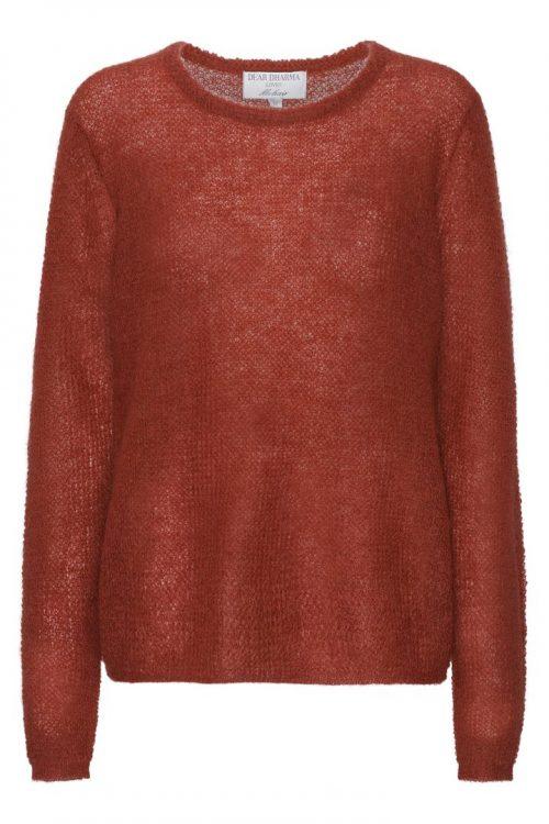 Gråblå, nøttebrun, brun, sort, rust eller beige løsstrikket basic mohairmix genser Dear Dharma - new maddy