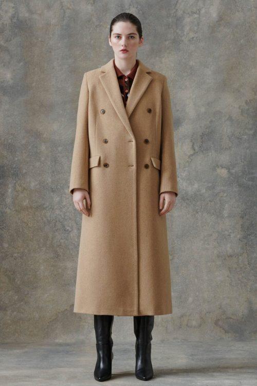 Camel ullfrakk Samsøe - 11104 falcon coat