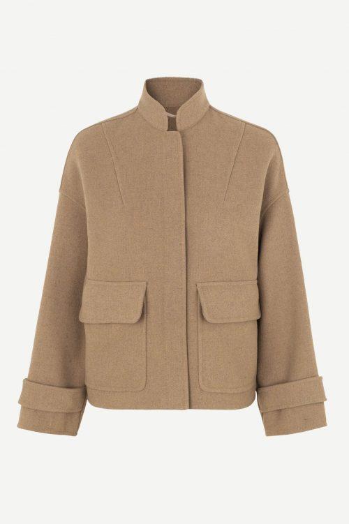 Camel ytterjakke med trendy ytterlommer Samsøe - 12844 zira jacket