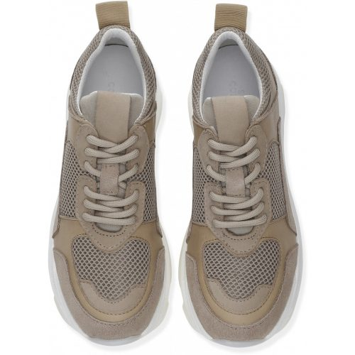 Sand kalveskinn sneakers Shoe Biz - Rad