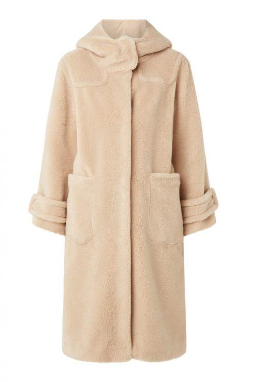 Sand wool blend teddy duffel coat Beaumont - BM3260203