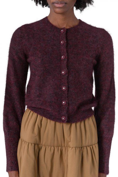 Sort eller bordeaux kid mohair cardigan Cathrine Hammel - 1532 soft petit cardigan