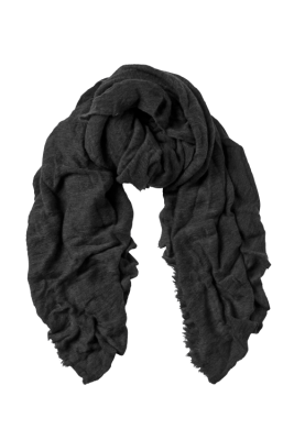 Dark grey cashmere skjerf Natura Cashmere - luxury medium dark grey