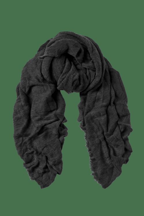 Dark grey cashmere skjerf Natura Cashmere - luxury medium dark grey