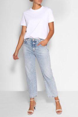 Kraftig bomull trendy hvit t-shirt Samsøe - camino
