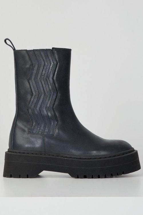 Dark navy saueskinn superlette boots Gestuz - 10904704 marlee chunky boots