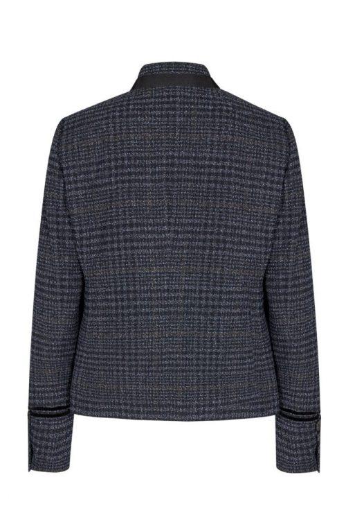 Blårutet boucle jakke Mos Mosh - 135930 selby boucle