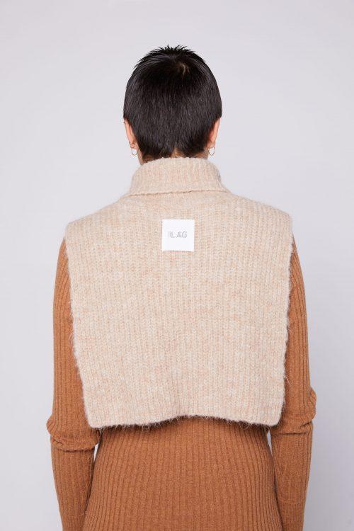 Camel, brun, sort eller dusty blue alpakkamix hals Ilag - huglo neck warmer