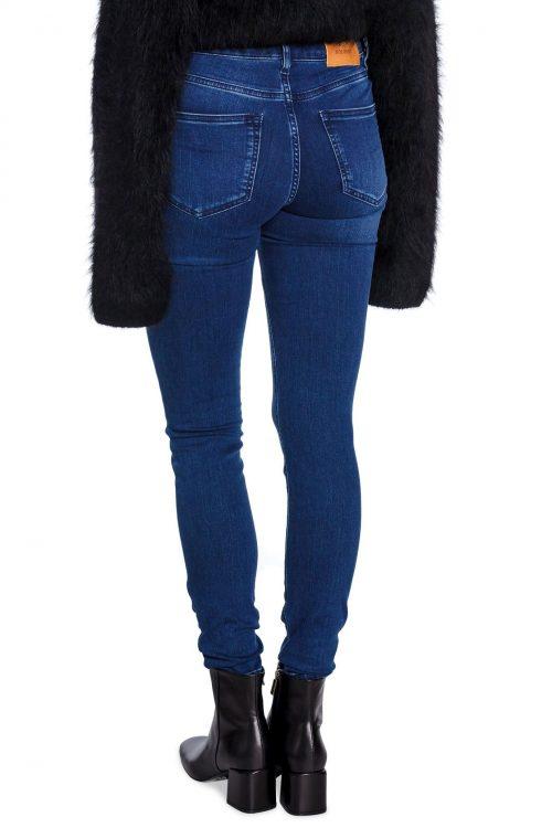 Blå eller sort smal jeans high waist i nydelig stretch Mos Mosh - 129770 alli core jeans