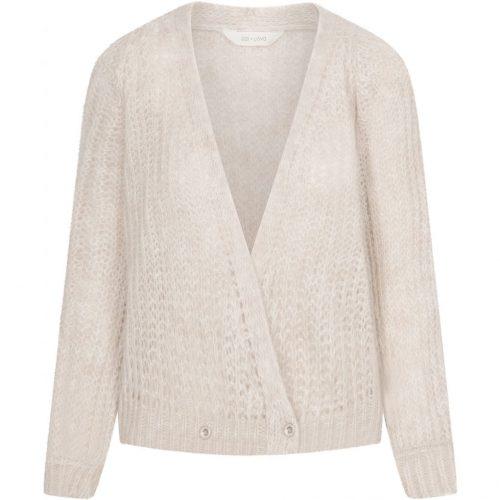Nougat melange (offwhite) eller dark grey melange cardigan Gai+Lisva - freyja.