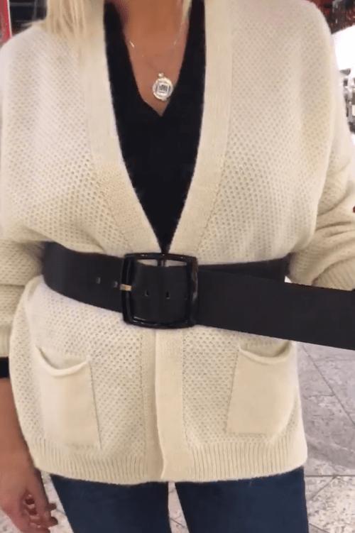 Sort bredt skinnbelte b.belt - elenor nero