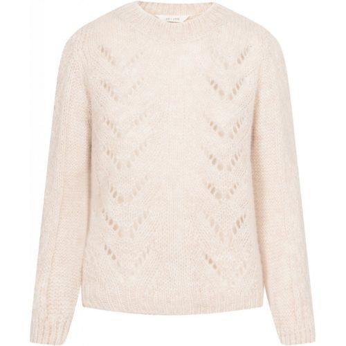 Nougat melange alpakkamix genser Gail&Lisva - elvira knit blouse GL11427