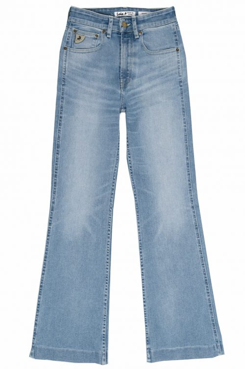 Lys denim flare jeans med høyt liv og rett fra 70-tallet Lois Jeans - riley heritage harry L32/L34