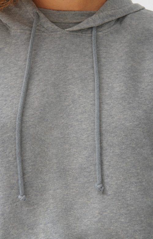 Lys gråmelert myk bomull hoddie med tilhørende kosebukse American Vintage - nea03 og nea05