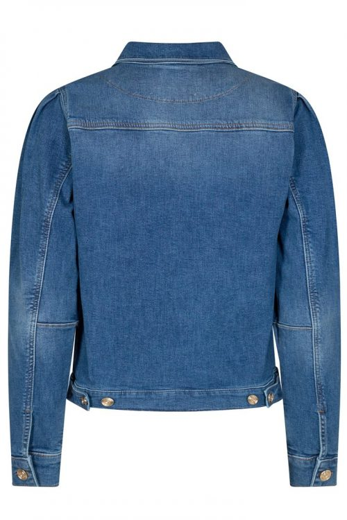 Blue jeansjakke med puff Mos Mosh - aiden puff jacket blue