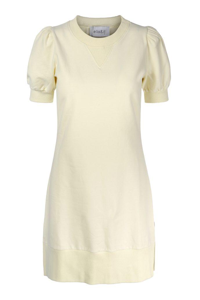 Dus gul eller navy collage kortermet kjole Ella&Il - Wida dress