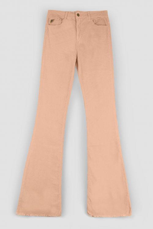 Peach rosa og lindegrønn microcord flare bukse Lois - 2007-6373 micro fade L30/L32/L34 (NB! ikke med frynser som vist her)
