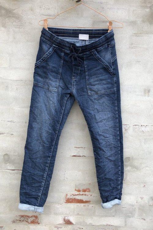 Supermyk jeans med trendy store ytterlommer Cabana Living - viva 7169