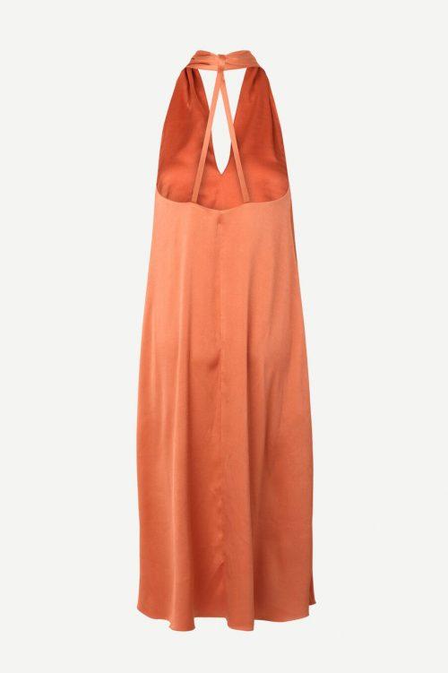 Fog green eller apricot brandy lang halterneck partykjole Samsøe - 13096 cille dress