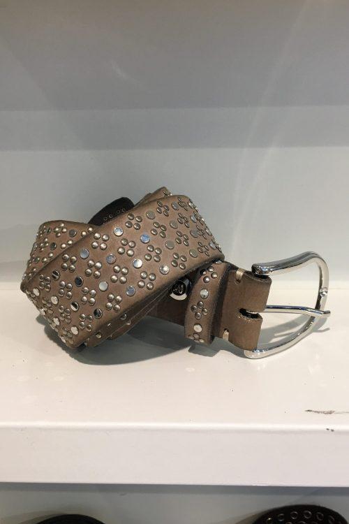 Belte 'Tessa silver' belte med studs b.belt - BB0716L79 tessa silver color 0730