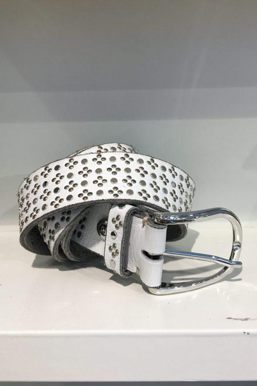 Hvitt belte med studs b.belt - BB0716L38 Tini silver