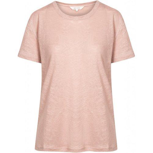 Hvit, lavender eller velvet (lindegrønn) 100% lin t-shirt Gai&Lisva - 10227 liv o-neck