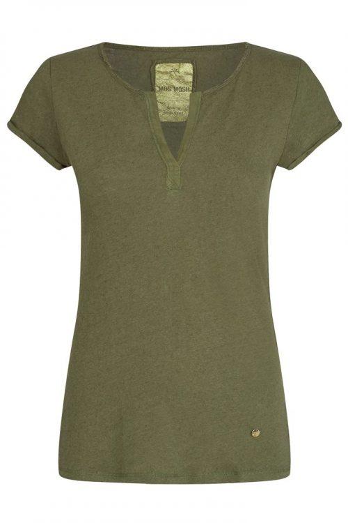 Nektarin eller winter moss lin/bomull t-shirt Mos Mosh - troy tee ss Blue patchwork jeans Cabana Living - DY 660 jeans blue patch