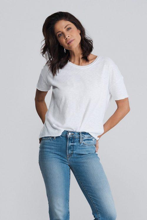 Kraftig bomull ledig t-shirt i mange farger American Vintage – son 36B