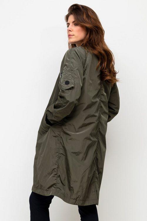 Forrest green sporty lang jakke med sorte detaljer Beaumont - bm.020.60.211